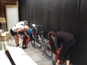 De fietsdames