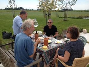 en een heerlijk lunch in de zon